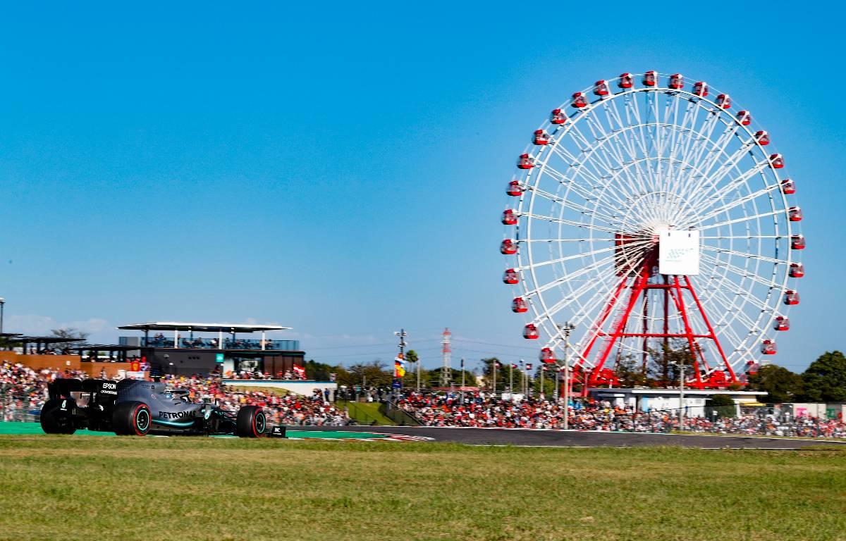 Valtteri Bottas (Mercedes) on track at Suzuka, home of the Japanese Grand Prix