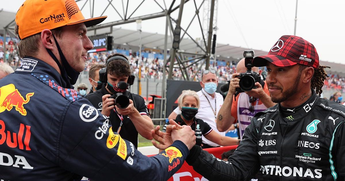 Lewis Hamilton Max Verstappen Mercedes Red Bull