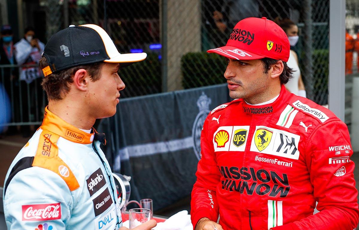 Lando Norris Carlos Sainz Ferrari McLaren