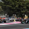 Max Verstappen's Red Bull runs wide out of Turn 1 at the 2021 French Grand Prix