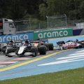 Styrian GP crash first lap, Antonio Giovinazzi spins