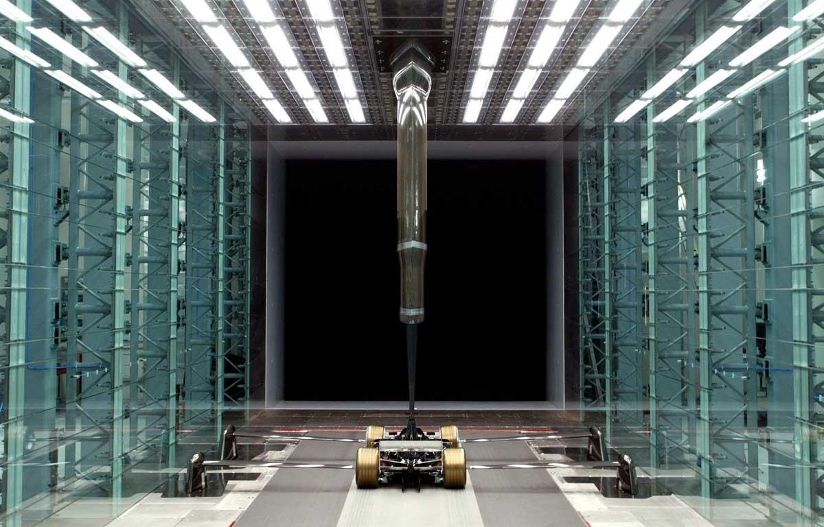 Formula 1 wind tunnel