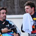 Fernando Alonso and Max Verstappen