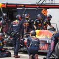 Max Verstappen pit stop