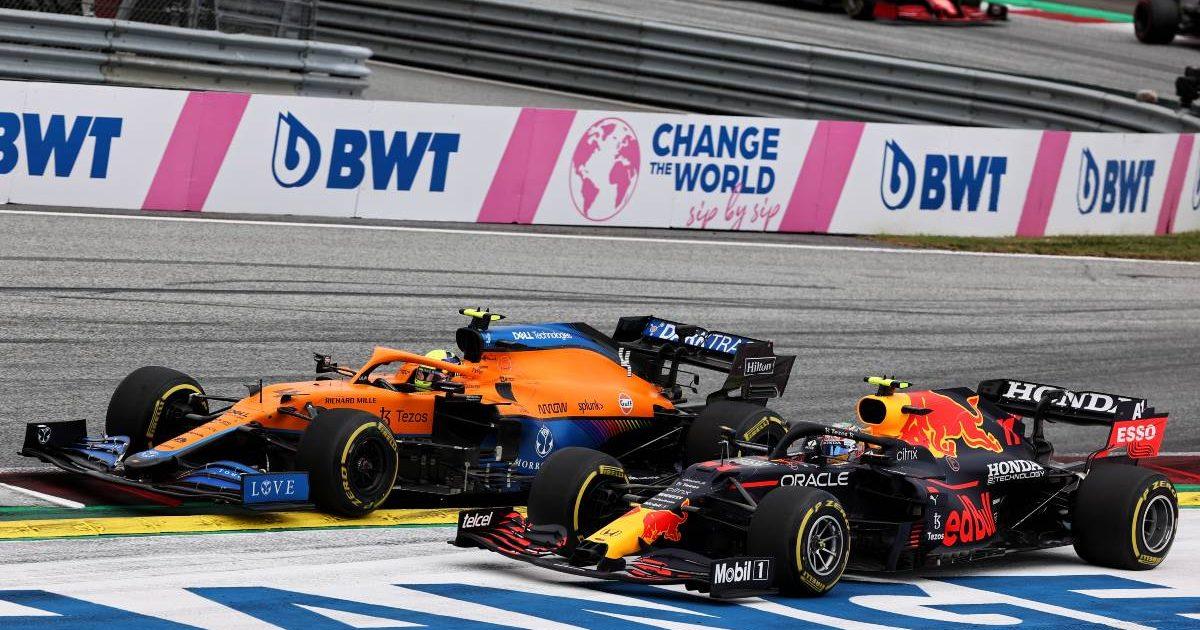 Lando Norris, McLaren, Sergio Perez, Red Bull
