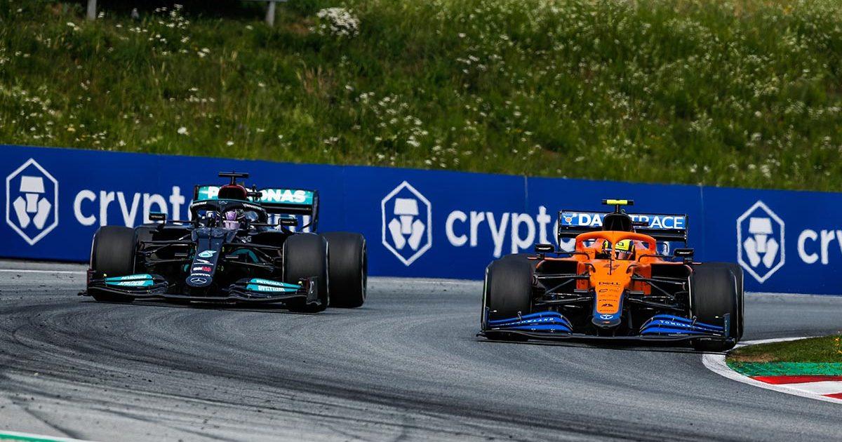 Lando Norris Lewis Hamilton McLaren Mercedes