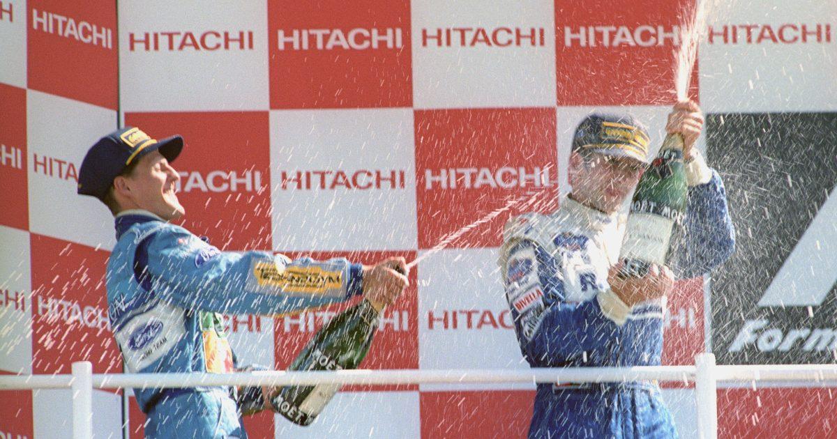 Michael Schumacher Damon Hill 1994 British GP