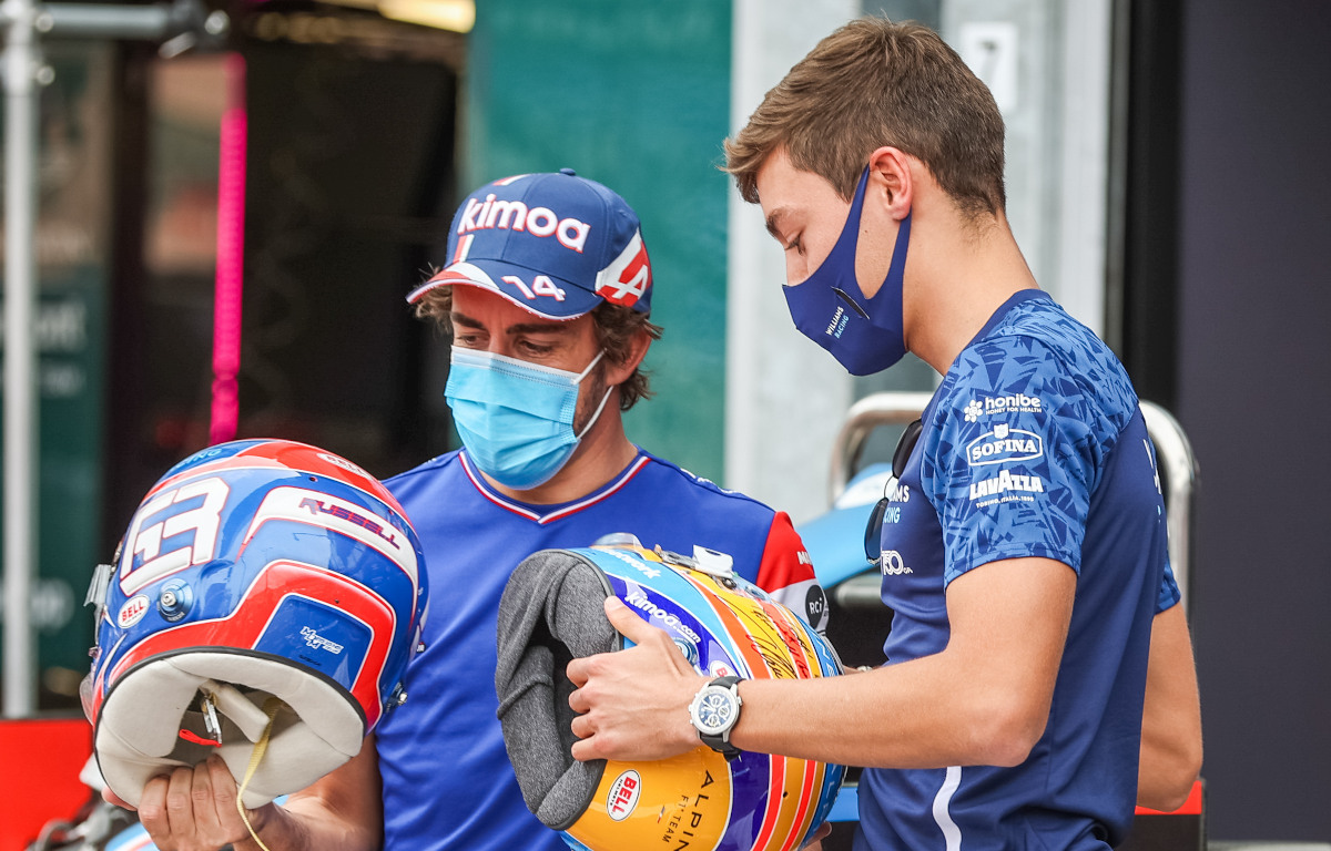 Fernando Alonso and George Russell