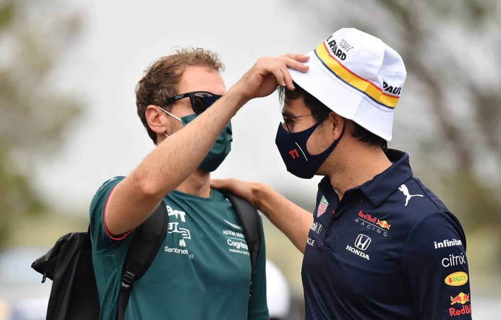 Sebastian Vettel Sergio Perez