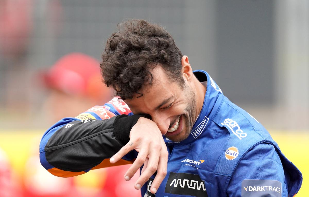 Daniel Ricciardo laughing