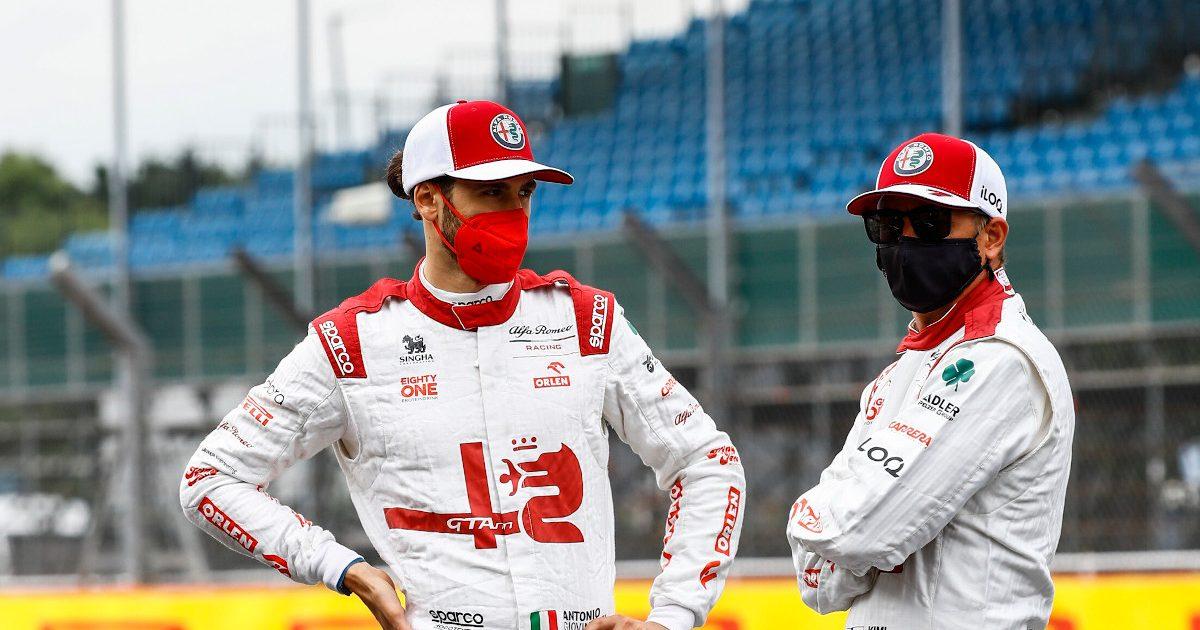 Kimi Raikkonen and Antonio Giovinazzi Alfa Romeo