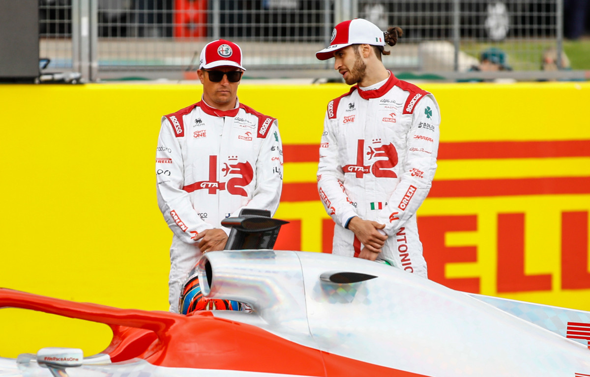 Kimi Raikkonen and Antonio Giovinazzi 2022 car