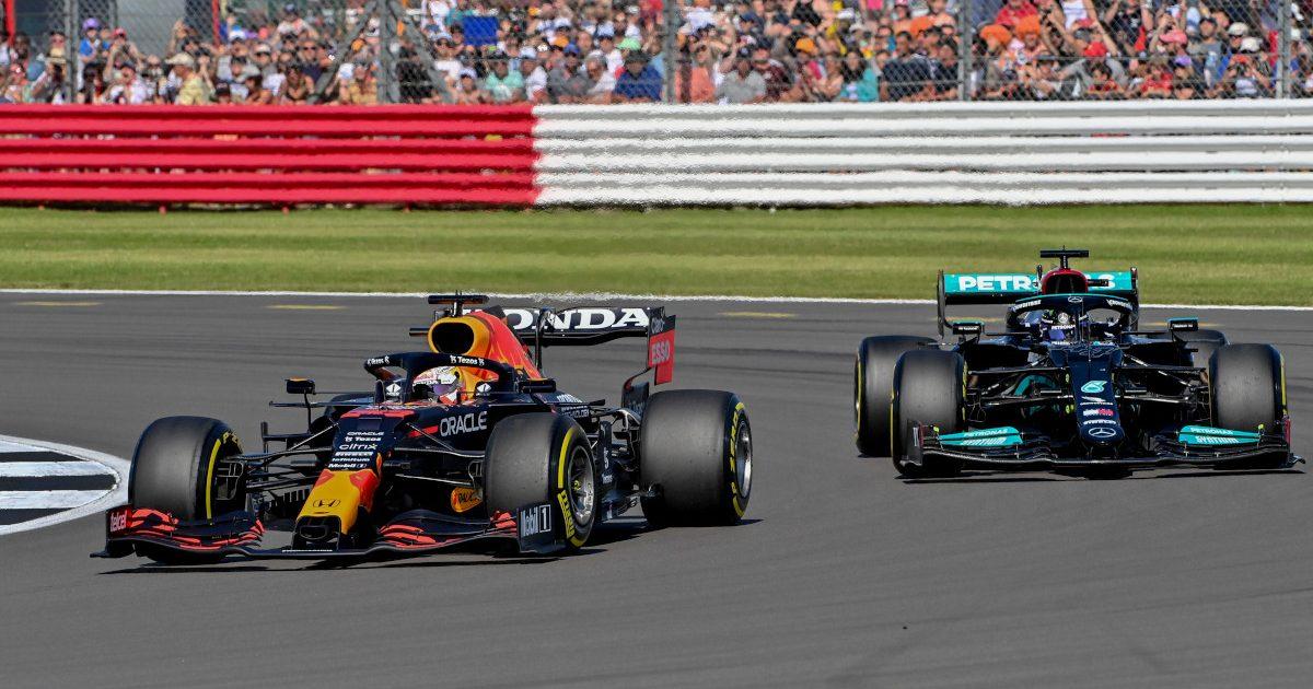 Max Verstappen leads Lewis Hamilton