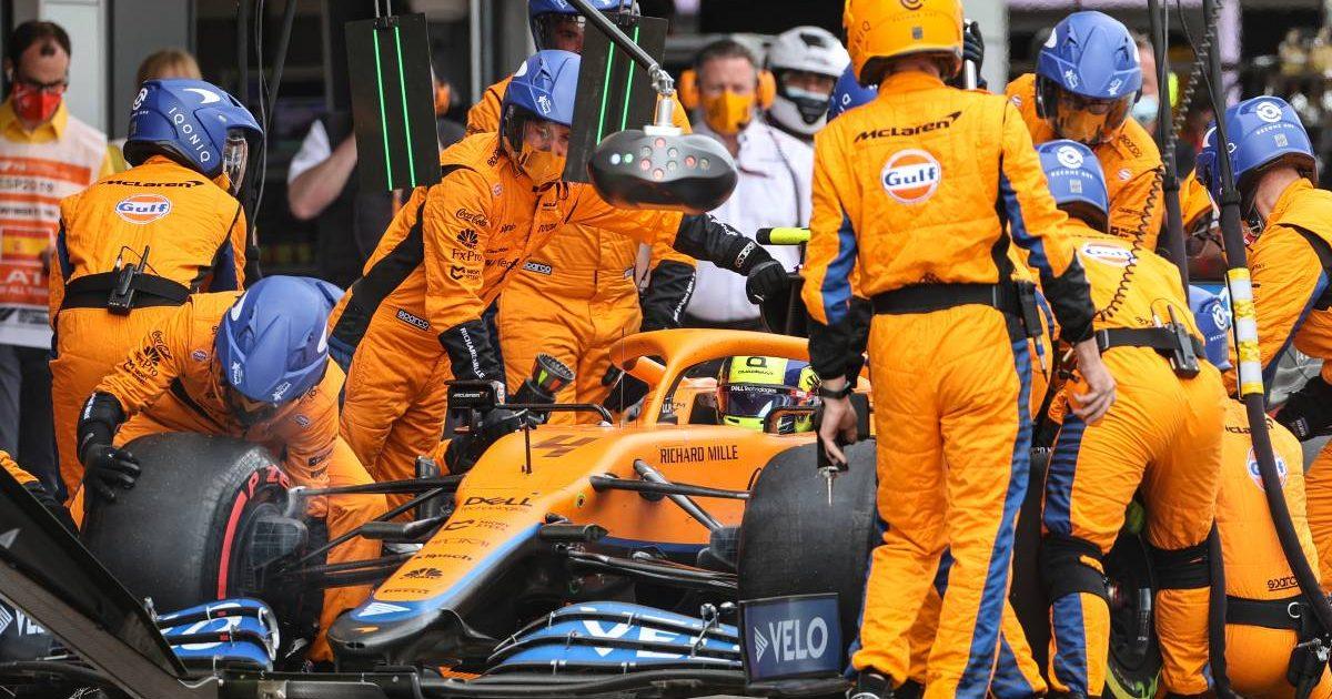 Lando Norris, McLaren pit-stop