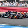 Lewis Hamilton and Max Verstappen battle