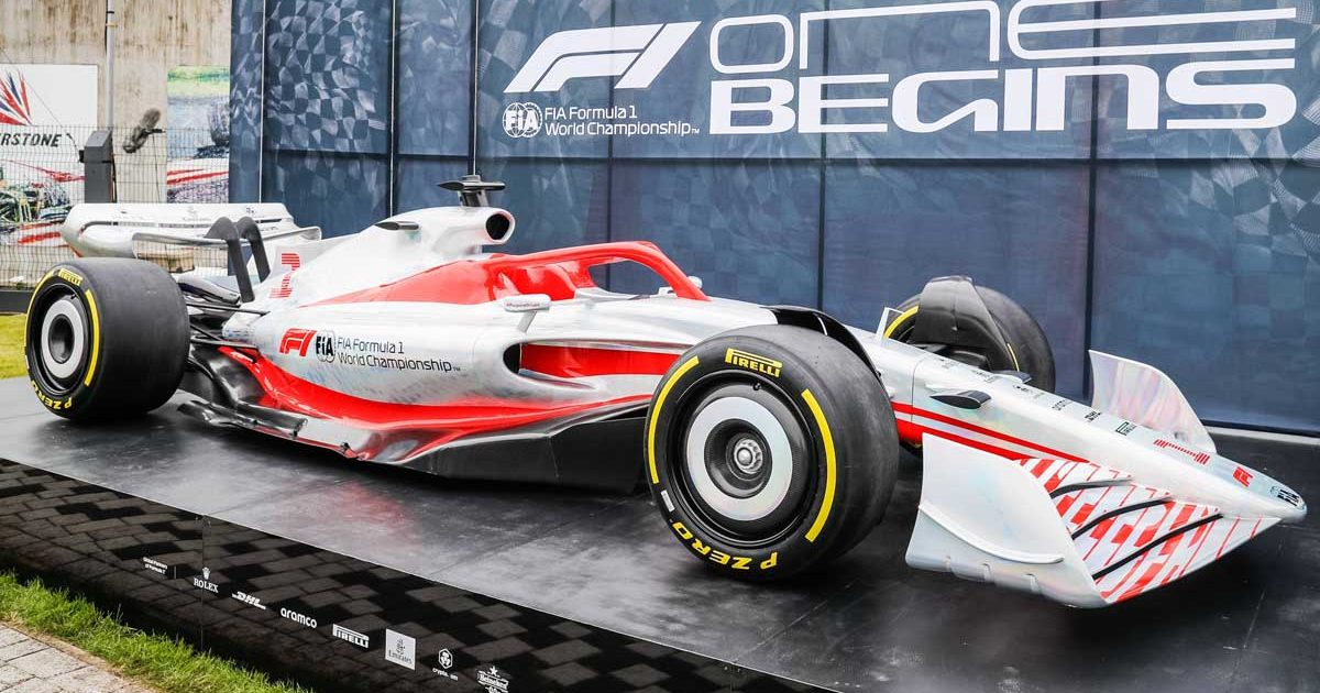 2022 model Formula 1 car