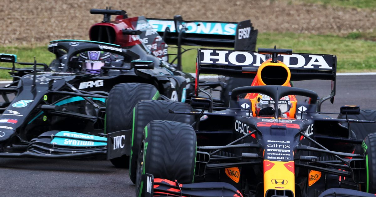 Max Verstappen and Lewis Hamilton wets