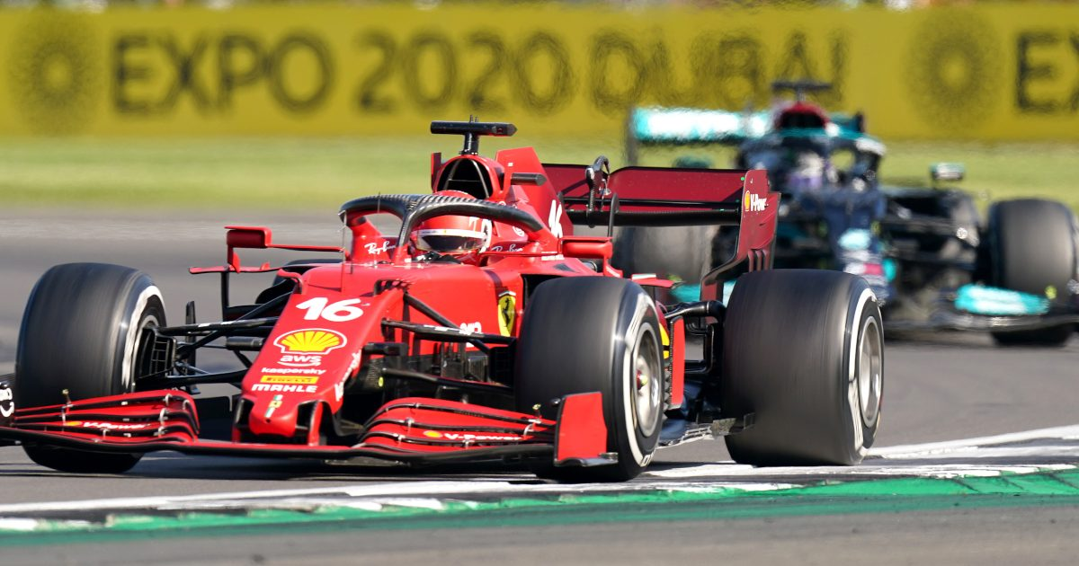 Charles Leclerc leads Lewis Hamilton Silverstone