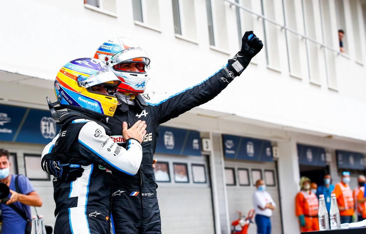 Esteban Ocon Fernando Alonso