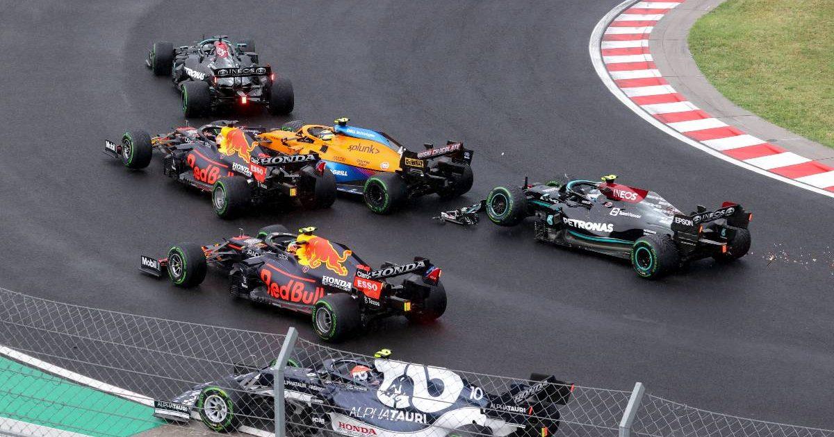 2021 Hungarian Grand Prix crash