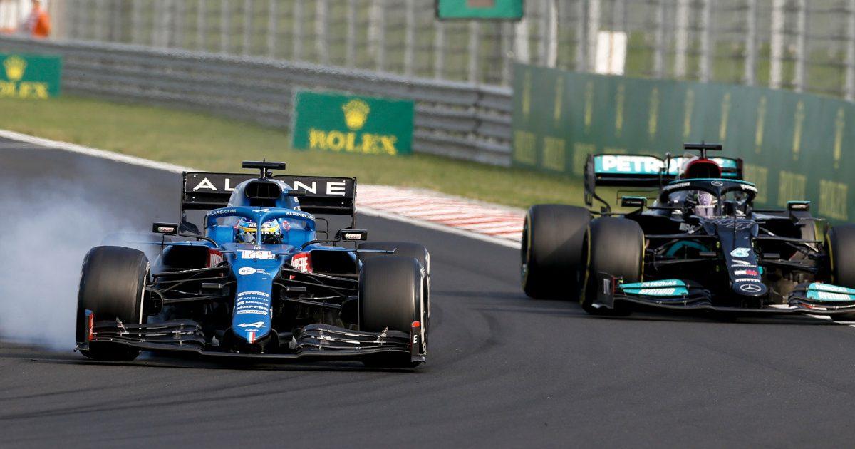 Fernando Alonso and Lewis Hamilton Hungary