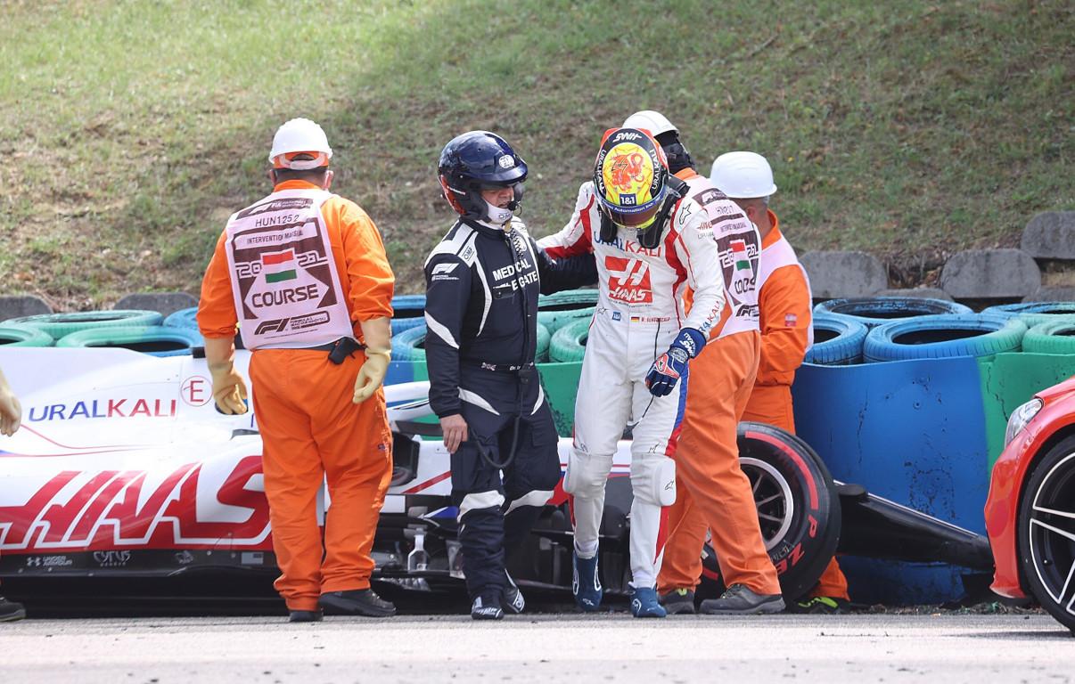 Mick Schumacher crash