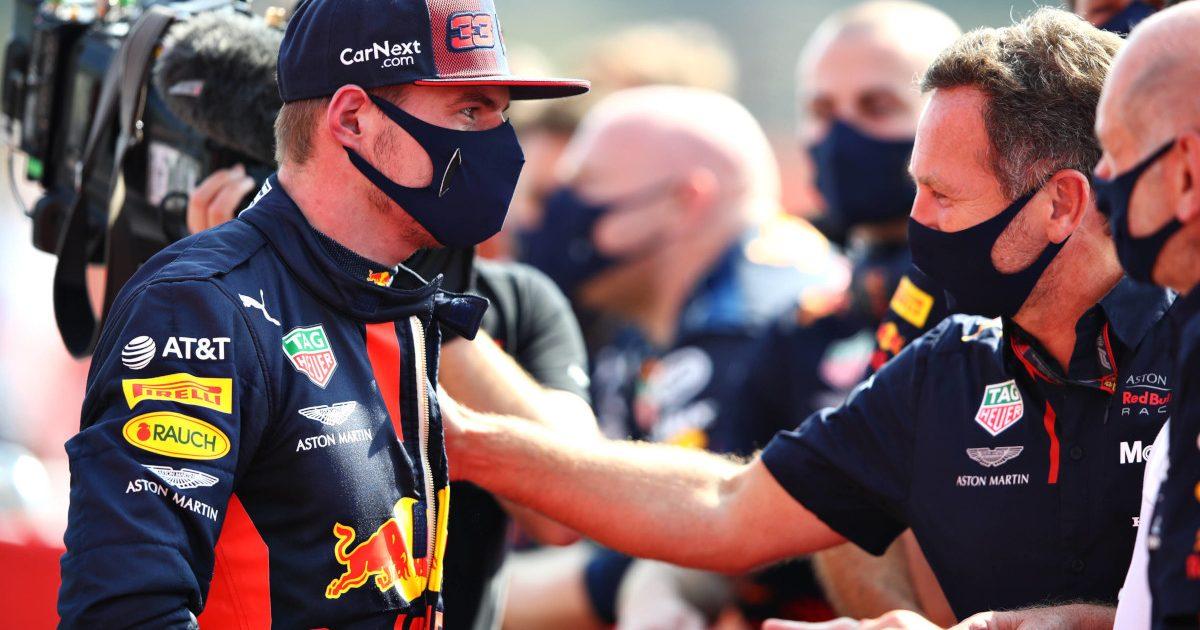 Max Verstappen and Christian Horner