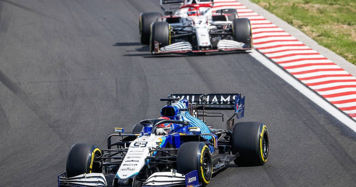George Russell's Williams. Hungary August 2021.