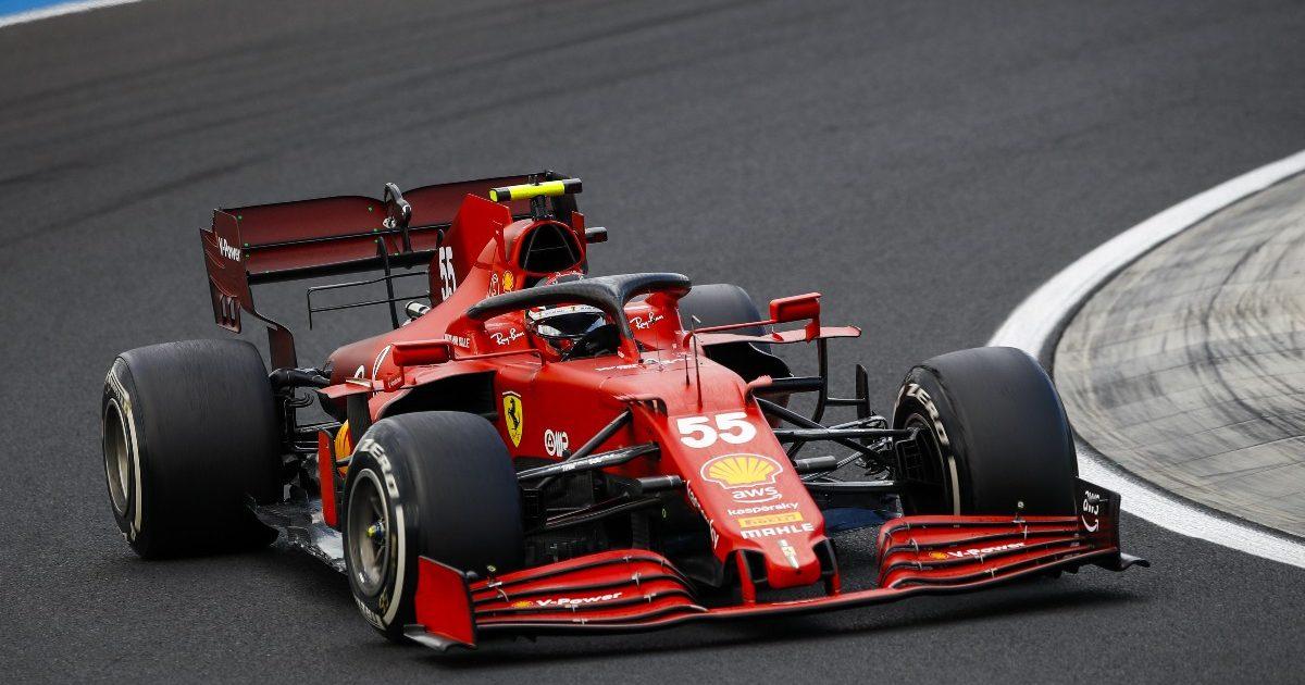 Carlos Sainz driving at 2021 Hungarian Grand Prix