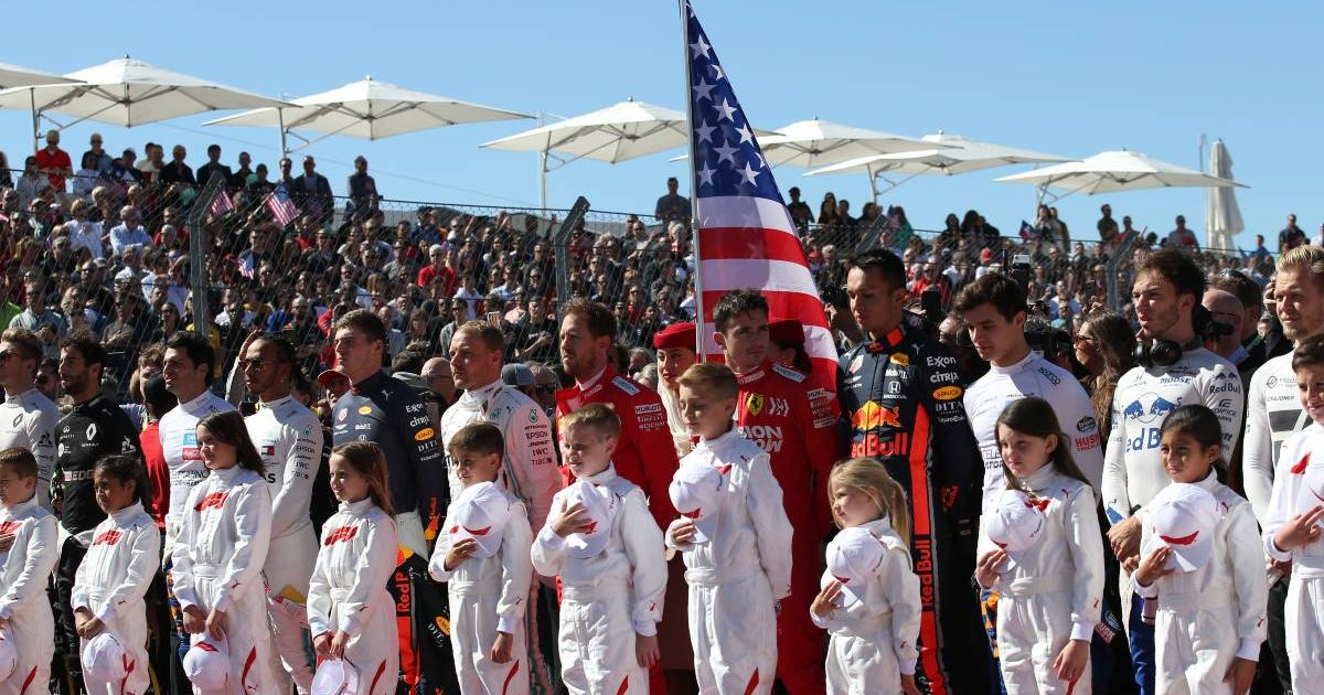 National anthem, US Grand Prix. Austin, Texas 2019.