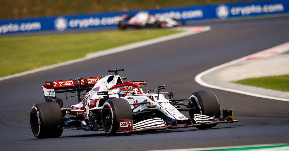 Kimi Raikkonen in action for Alfa Romeo. Hungary August 2021.