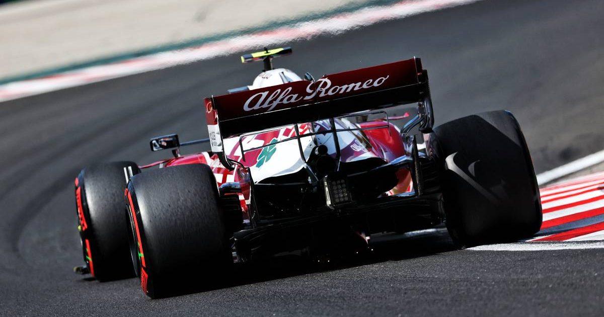 Antonio Giovinazzi in the Alfa Romeo. Hungary August 2021