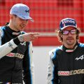 Esteban Ocon and Fernando Alonso, pre-season testing. Bahrain March 2021.