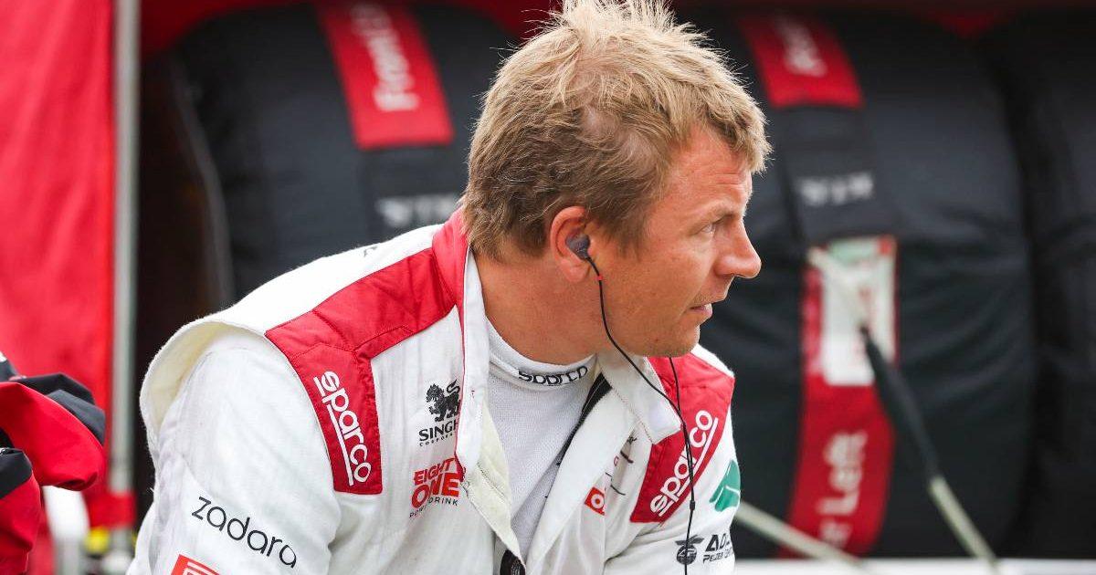 Kimi Raikkonen on the Hungary grid, August 2021.