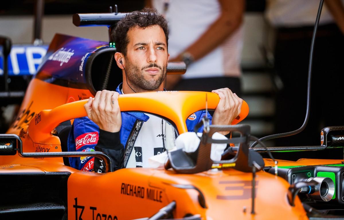 Daniel Ricciardo gets into car