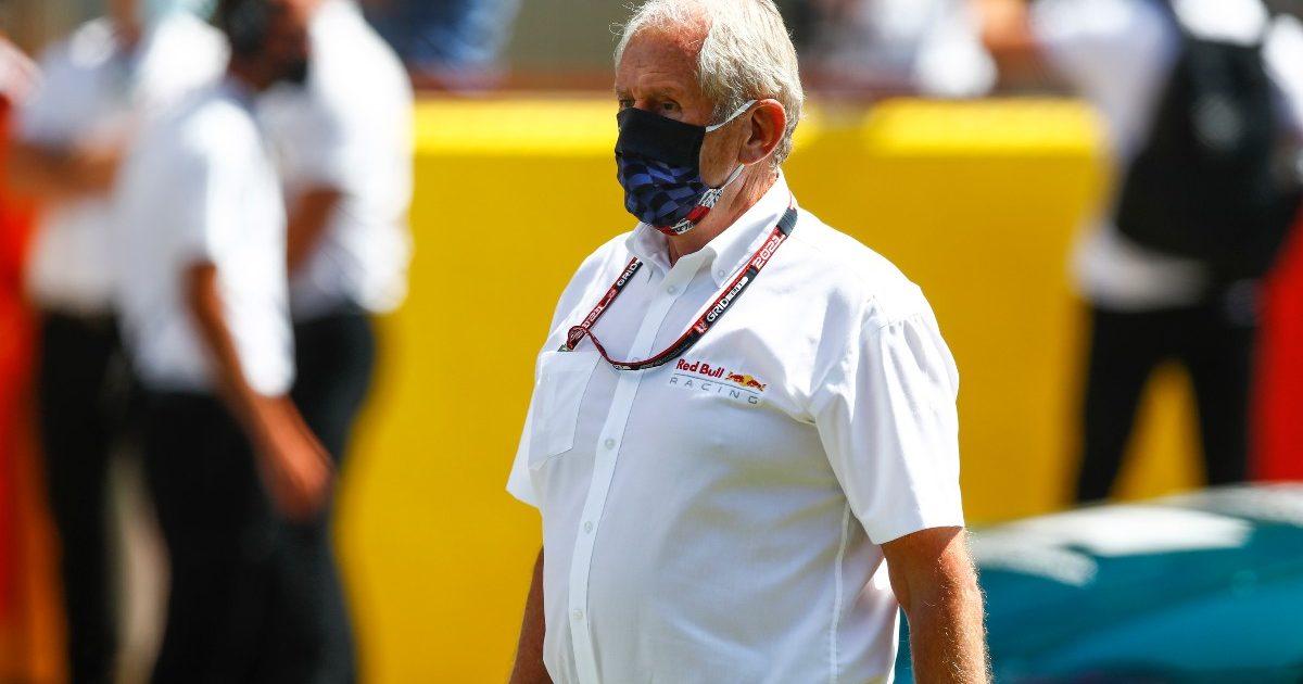 Helmut Marko walking through the paddock. Great Britain July 2021