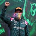 Sebastian Vettel celebrates P2 in Hungary. August, 2021.