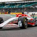Model of the 2022 Formula 1 car. Silverstone, July 2021.