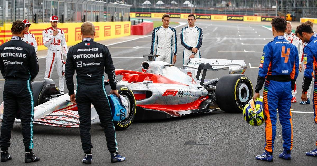 Model 2022 car revealed to the drivers. Silverstone, July 2021.