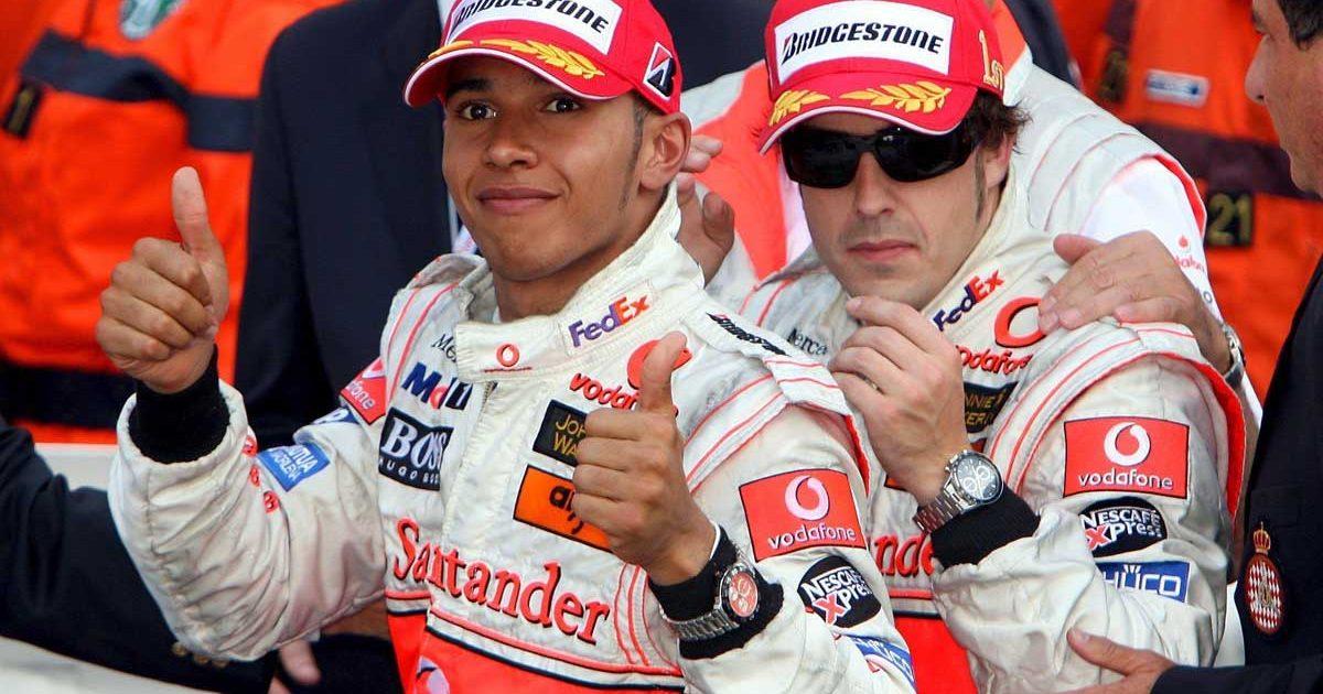 Fernando Alonso, Lewis Hamilton, Monaco Grand Prix 2007.