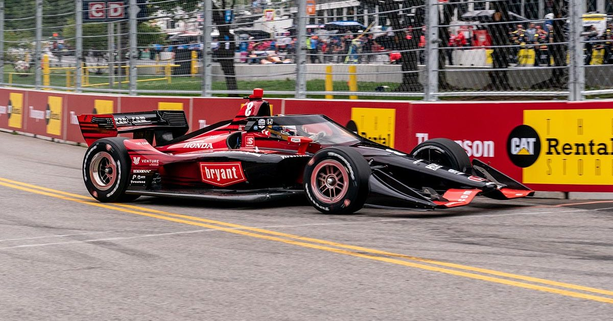 Marcus Ericsson racing at the Music City Grand Prix. Nashville August 2021