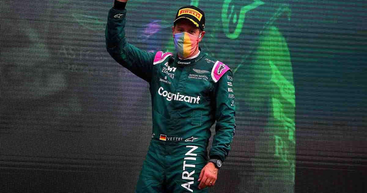 Sebastian Vettel. Aston Martin. Hungarian GP August 2021.