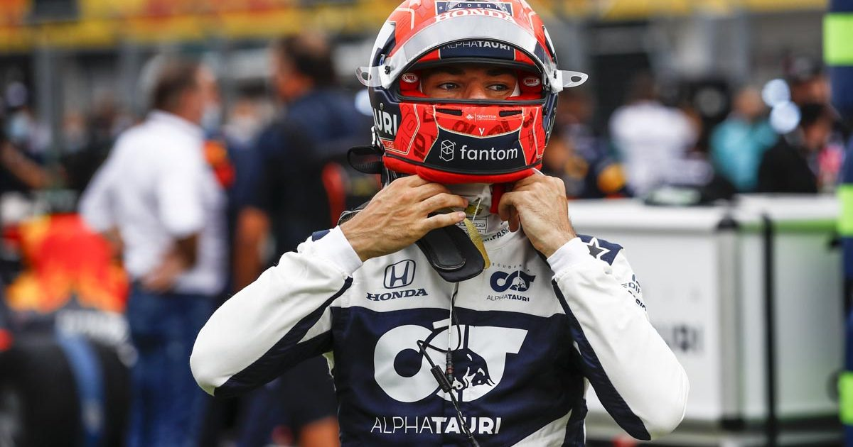 Pierre Gasly on the grid of the 2021 Hungarian Grand Prix.