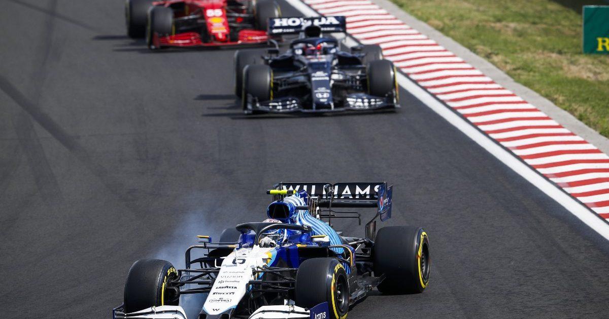 The Williams of Nicholas Latifi at the Hungarian Grand Prix. Hungary August 2021