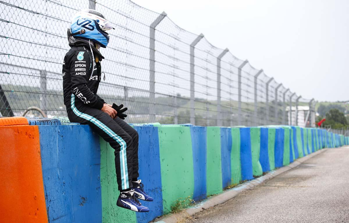 Valtteri Bottas retires from the Hungarian Grand Prix. August 2021.
