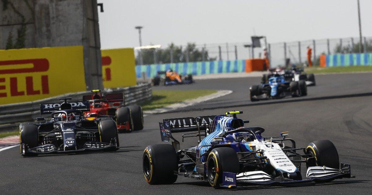 Nicholas Latifi driving during the Hungarian Grand Prix. Hungary August 2021
