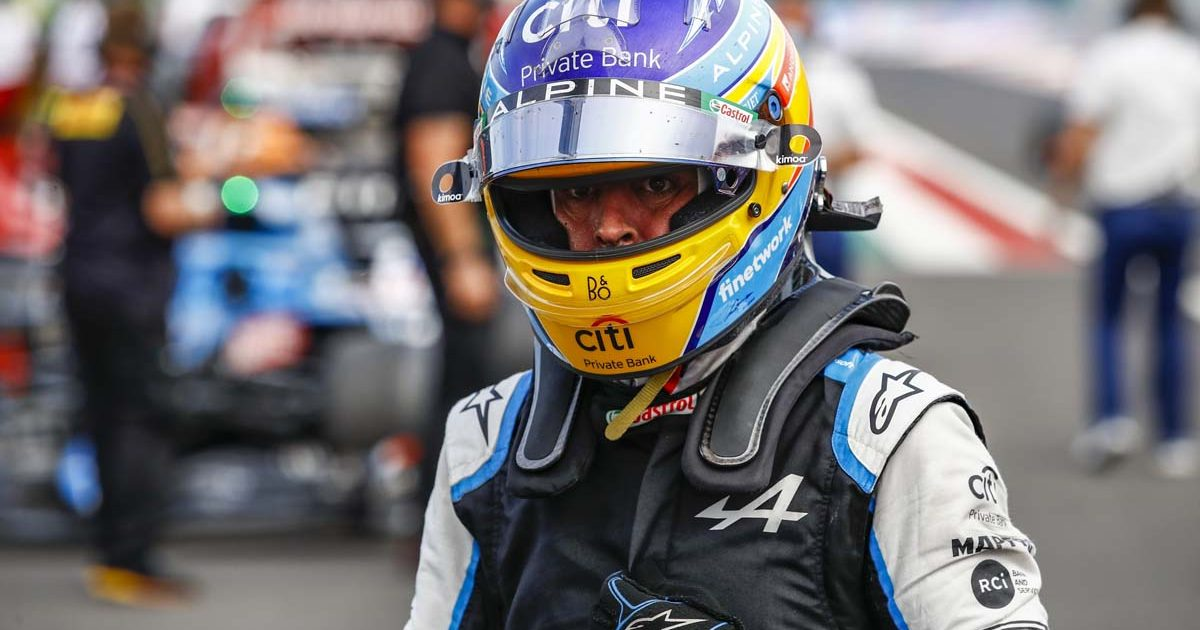 Fernando Alonso in Hungary. Budapest August 2021