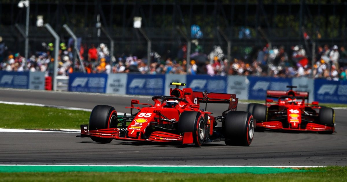 Carlos Sainz and Charles Leclerc during the British Grand Prix. Great Britain July 2021