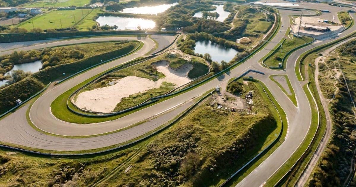 Aerial image of Circuit Zandvoort. Netherlands, October 2019.