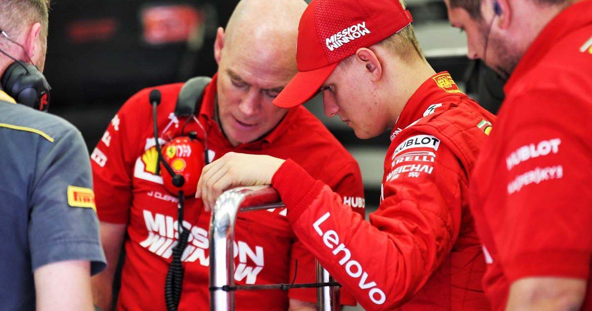 Jock Clear Mick Schumacher Ferrari 2019.